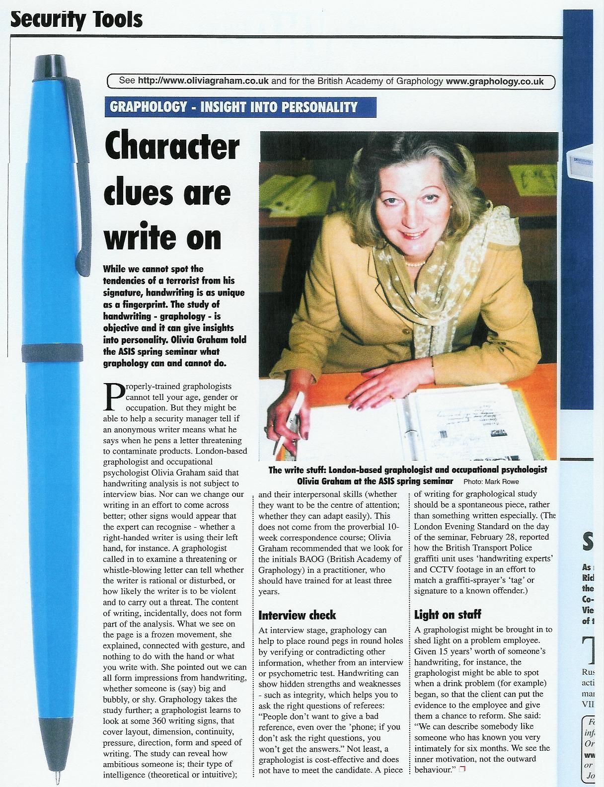 ASIS article April